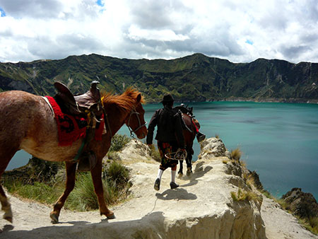 Horse on Trail to Quilotoa